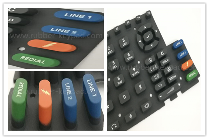 color coating keypad