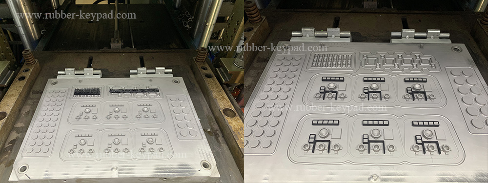 insert molding silicone rubber keypad
